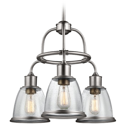 Feiss Lighting Feiss Lighting Hobson Satin Nickel Chandelier F3020/3SN