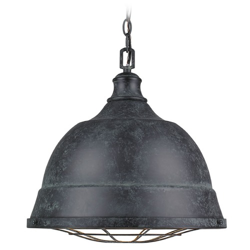 Golden Lighting Golden Lighting Bartlett Black Patina Pendant Light 7312-L BP