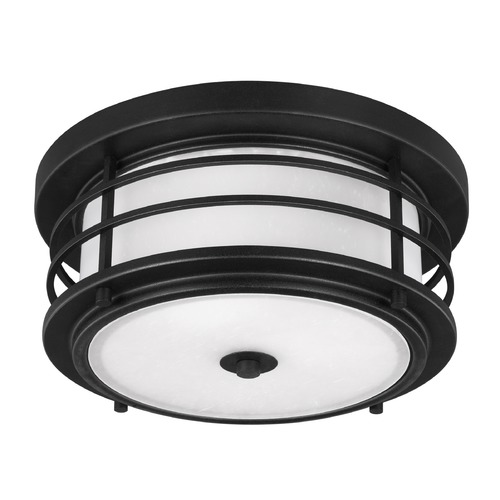 Sea Gull Lighting Sea Gull Sauganash Black LED Close To Ceiling Light 7824491S-12