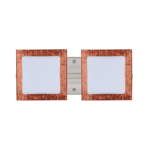 Besa Lighting Besa Lighting Alex Satin Nickel LED Bathroom Light 2WS-7735CF-LED-SN