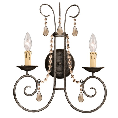 Crystorama Lighting Crystorama Lighting Soho Dark Rust Sconce 5202-DR-GTS