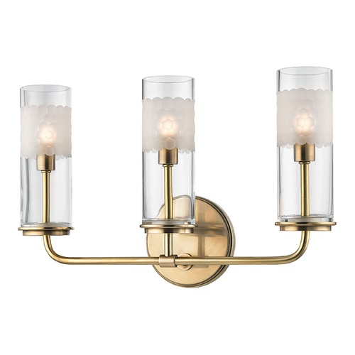 Hudson Valley Lighting Hudson Valley Lighting Wentworth Aged Brass Sconce 3903-AGB