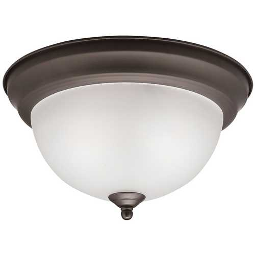 Kichler Lighting Kichler Modern Flushmount Light in Olde Bronze Finish 8111OZ