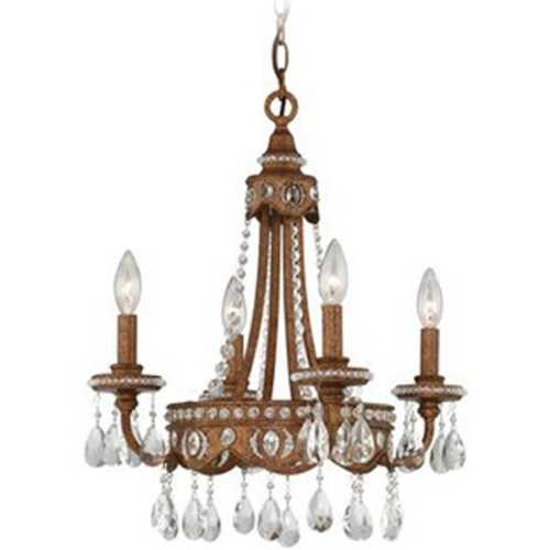 Quoizel Lighting Mini-Chandelier in Bolivian Bronze Finish QMC404BO