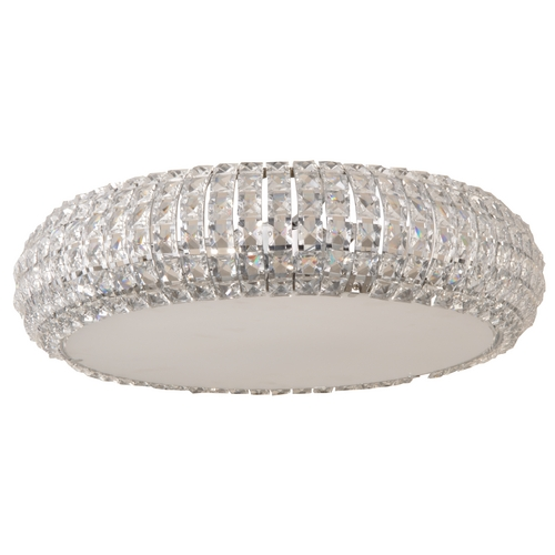 ET2 Lighting Modern Flushmount Light with Clear Glass in Polished Chrome Finish E21801-20PC