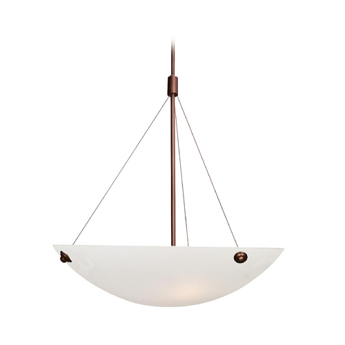 Access Lighting Modern Pendant Light with Alabaster Glass in Bronze Finish 23074-BRZ/WHT