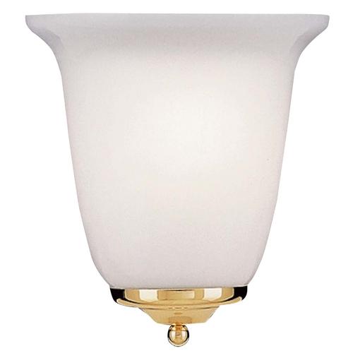 Polished Brassbrushed Nickel Energy Star Qualified Singlelight Sconce 2601Pl Es