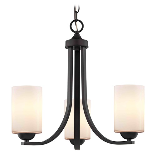Design Classics Lighting Bronze Mini-Chandelier 5843-220 GL1024C