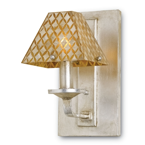 Currey and Company Lighting Currey and Company Lighting Silver Leaf / Natural Sconce 5144