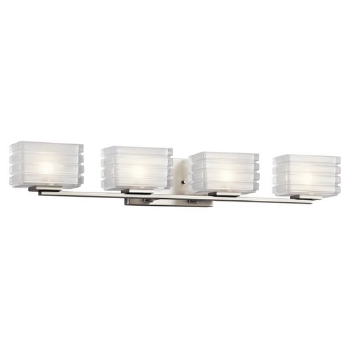 Kichler Lighting Kichler Lighting Bazely Brushed Nickel Bathroom Light 45480NI