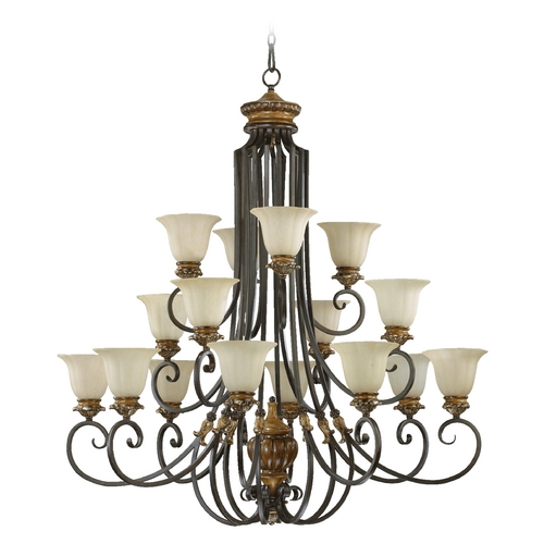 Quorum Lighting Quorum Lighting Capella Toasted Sienna with Golden Fawn Chandelier 6101-16-44