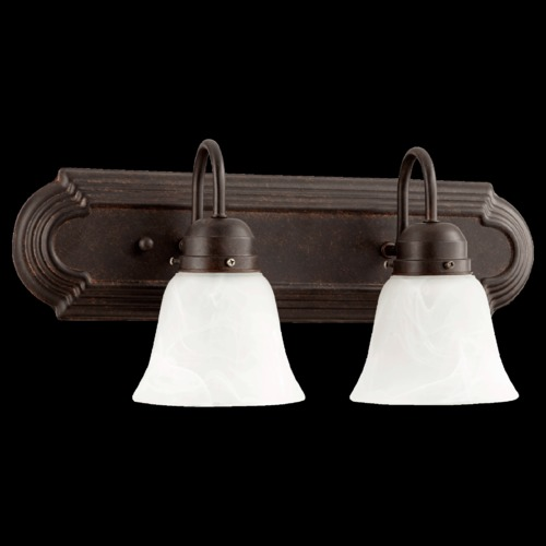 Quorum Lighting Quorum Lighting Toasted Sienna Bathroom Light 5094-2-144