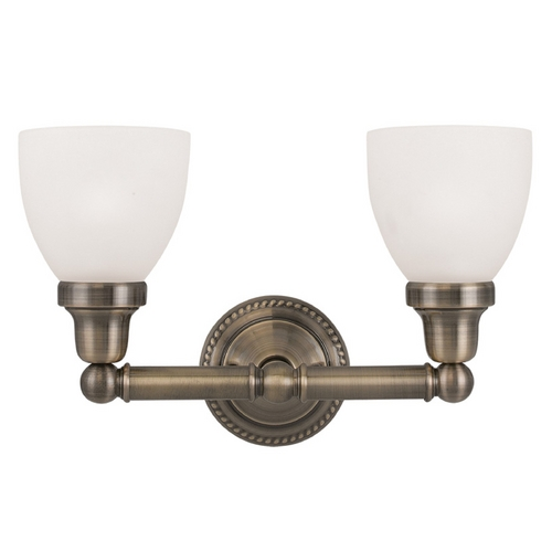 Livex Lighting Livex Lighting Classic Antique Brass Bathroom Light 1022-01