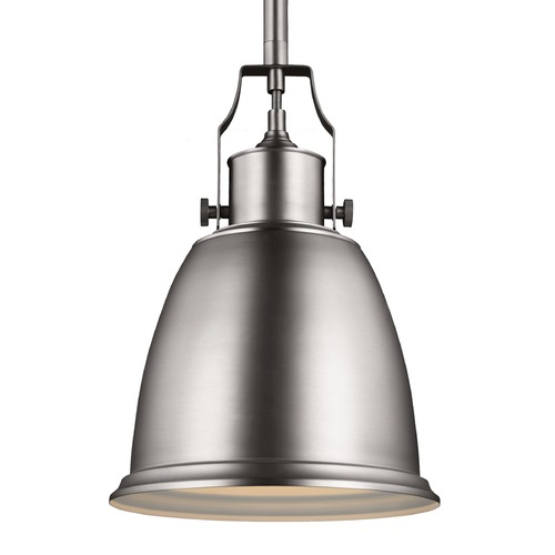 Feiss Lighting Feiss Hobson Satin Nickel Mini-Pendant Light P1358SN