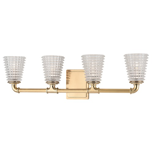 Hudson Valley Lighting Westbrook 4 Light Bathroom Light - Aged Brass 6224-AGB
