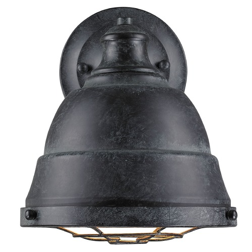 Golden Lighting Golden Lighting Bartlett Black Patina Sconce 7312-1W BP