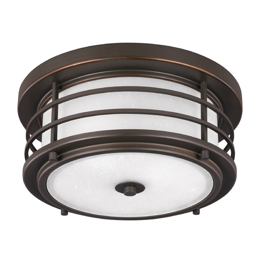 Sea Gull Lighting Sea Gull Sauganash Antique Bronze LED Close To Ceiling Light 7824491S-71