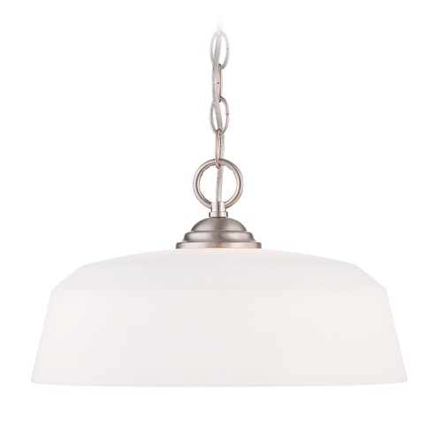 Designers Fountain Lighting Designers Fountain Darcy Brushed Nickel Pendant Light with Bowl / Dome Shade 15006-DP-35