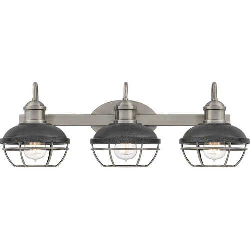 Quoizel Lighting Quoizel Lighting Sandpiper Antique Polished Nickel with Distressed Iron Bathroom Light SPP8625AP