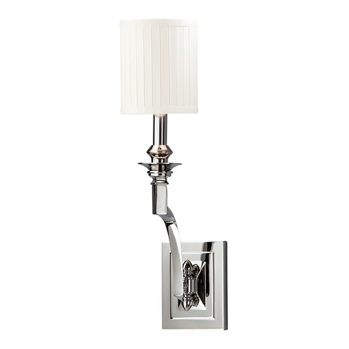 Hudson Valley Lighting Sconce Wall Light with White Shade in Polished Nickel Finish 7901-PN