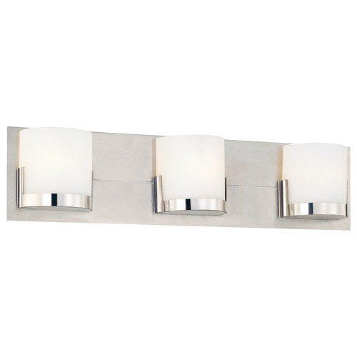 George Kovacs Lighting Modern Bathroom Light with White Glass in Chrome Finish P5953-077