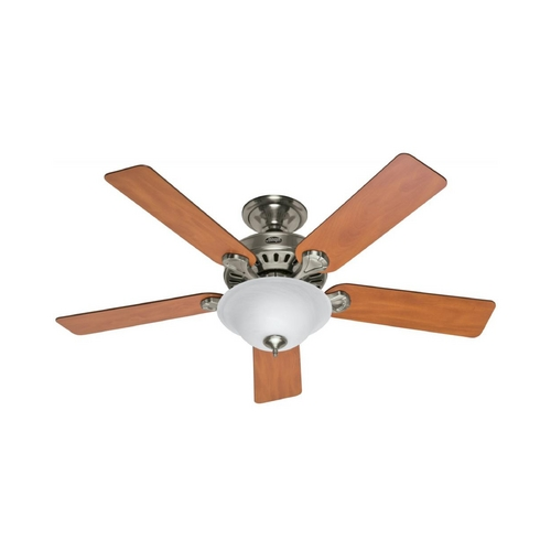 Hunter Fan Company Hunter Fan Company Five Minute Fan Brushed Nickel Ceiling Fan with Light 53249
