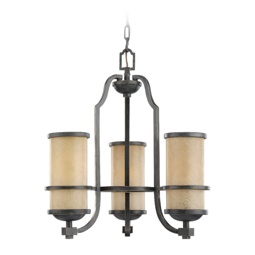 Sea Gull Lighting Nautical Chandelier with Beige / Cream Glass in Flemish Bronze Finish 31520-845