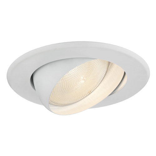 Recesso Lighting by Dolan Designs Adjustable Eyeball White PAR30 Trim for 5-Inch Recessed Housings - Line Voltage T512-WH