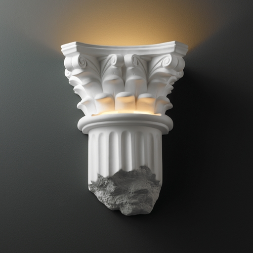 Justice Design Group Sconce Wall Light in Bisque Finish CER-4700-BIS
