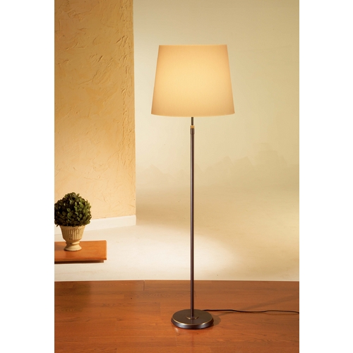 Holtkoetter Lighting Holtkoetter Modern Floor Lamp with Beige / Cream Shade in Hand-Brushed Old Bronze Finish 6354 HBOB KPRG