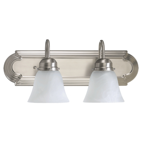 Quorum Lighting Quorum Lighting Satin Nickel Bathroom Light 5094-2-165