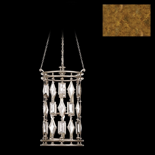 Fine Art Lamps Fine Art Lamps Encased Gems Gold Leaf Pendant Light 727640-3ST