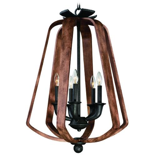 Maxim Lighting Maxim Lighting International Road House Barn Wood / Iron Ore Pendant Light 20925BWIO