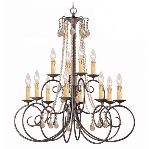 Crystorama Lighting Crystorama Lighting Soho Dark Rust Crystal Chandelier 5212-DR-GT-MWP