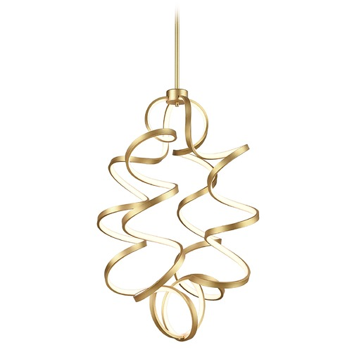 Kuzco Lighting Kuzco Lighting Synergy Antique Brass LED Chandelier CH93934-AN