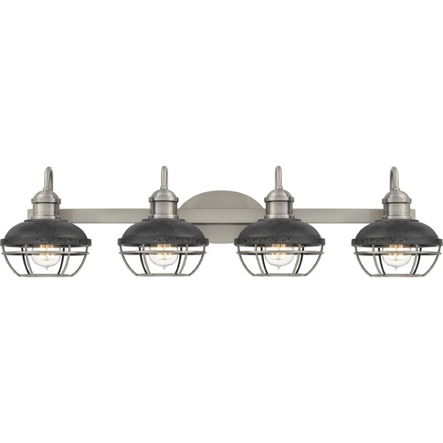 Quoizel Lighting Quoizel Lighting Sandpiper Antique Polished Nickel with Distressed Iron Bathroom Light SPP8634AP
