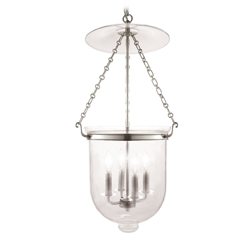 Hudson Valley Lighting Pendant Light with Clear Glass in Polished Nickel Finish 255-PN-C1