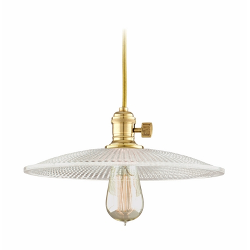 Hudson Valley Lighting Pendant Light with Clear Glass in Aged Brass Finish 8001-AGB-GM4