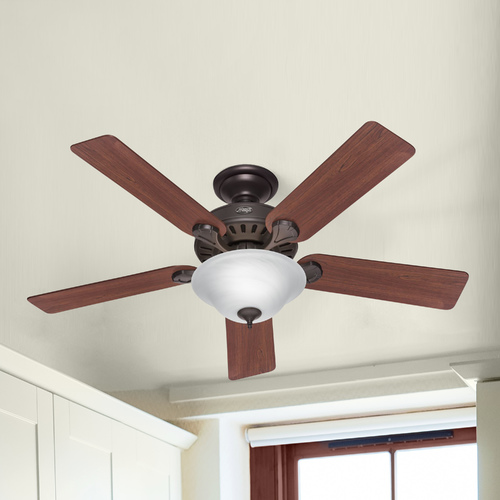 Hunter Fan Company Hunter Fan Company Five Minute Fan New Bronze Ceiling Fan with Light 53250