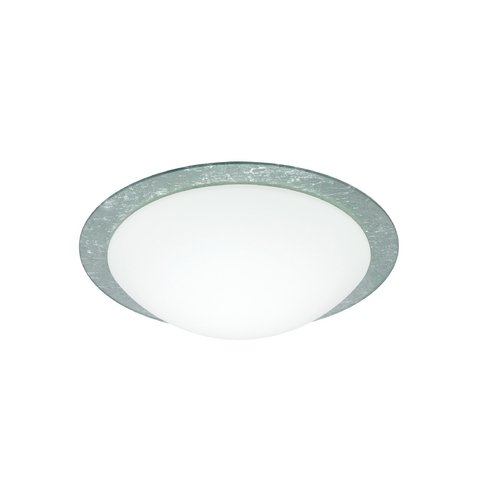 Besa Lighting Flushmount Light with White Glass 9772SFC