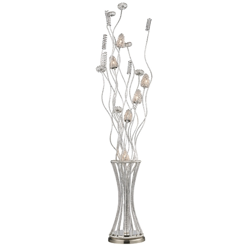 Elk Lighting Modern Floor Lamp in Satin Nickel Finish D2130