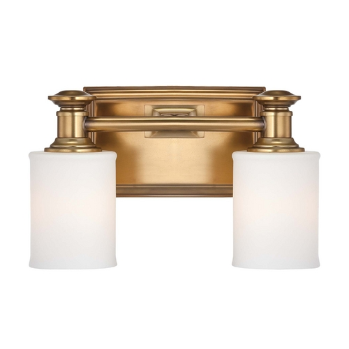 Minka Lavery Bathroom Light with White Glass in Liberty Gold Finish 5172-249