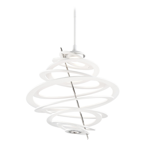 Corbett Lighting Modern LED Pendant Light with White Glass in Modern White Finish 174-41