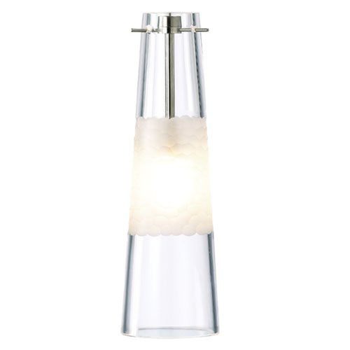 LBL Lighting Glass Cone Low Voltage Mini-Pendant HS461CRSC1B50MPT