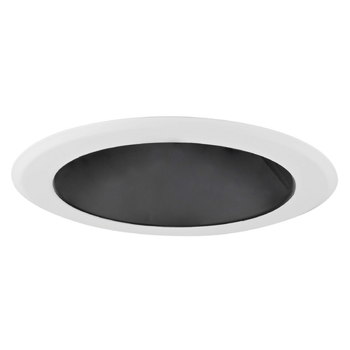 Recesso Lighting by Dolan Designs 5-Inch Black Specular Open Reflector Trim for Recessed Lighting T500B-WH
