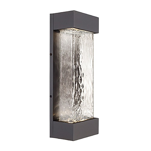 Kuzco Lighting Modern Graphite LED Outdoor Wall Light with Art Glass 3000K 1540LM EW7018-GH
