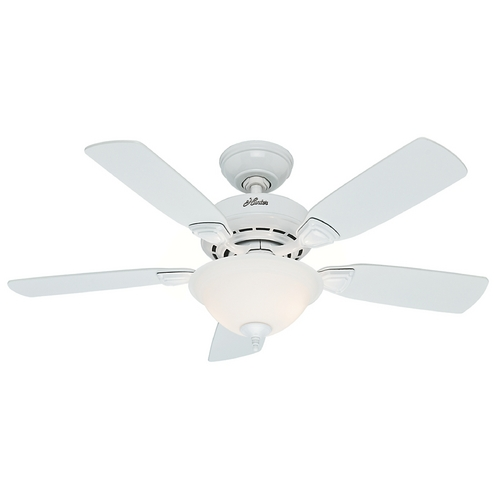 Hunter Fan Company Hunter Fan Company Caraway White Ceiling Fan with Light 52080