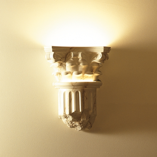 Justice Design Group Sconce Wall Light in Carrara Marble Finish CER-4700-STOC