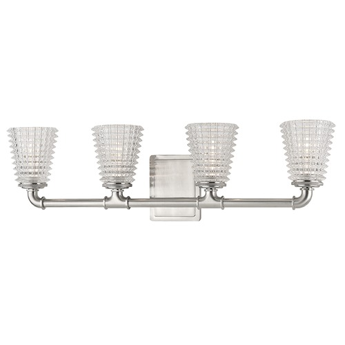 Hudson Valley Lighting Westbrook 4 Light Bathroom Light - Satin Nickel 6224-SN