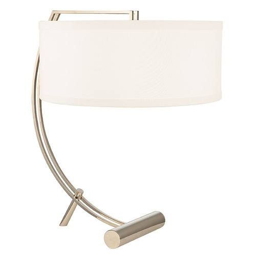 Hudson Valley Lighting Deyo 2 Light Table Lamp Drum Shade - Polished Nickel L400-PN-WS